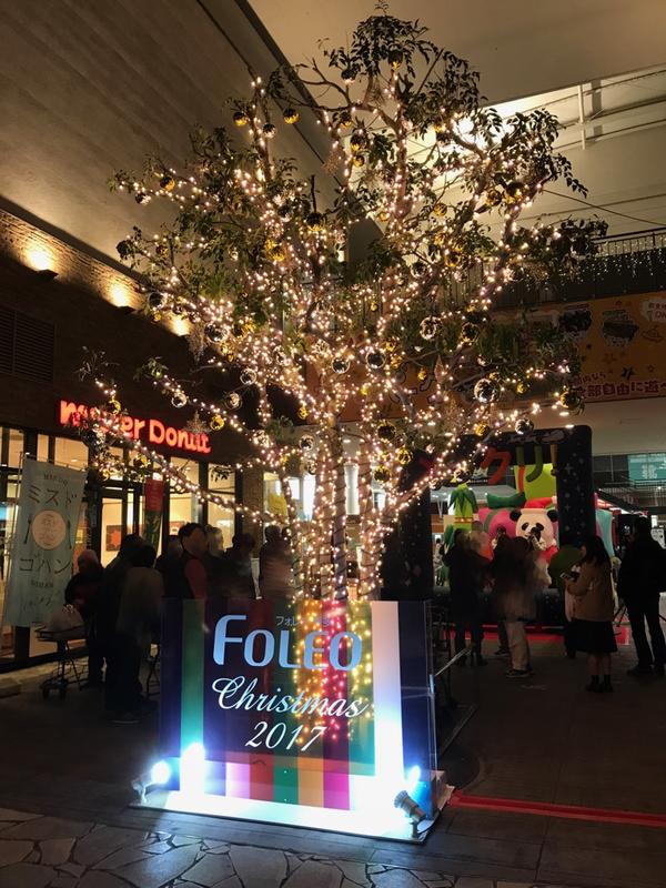 フォレオ博多のイルミネーションとクリスマス装飾をさせて頂きました。