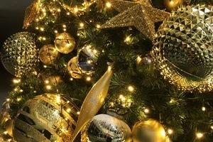 イオン岡山にクリスマスツリーを装飾、設置のサムネイル