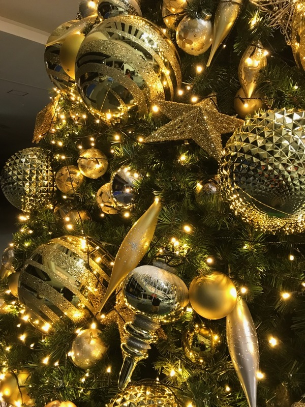 イオンモール岡山にクリスマスツリーを装飾、設置させて頂きました。