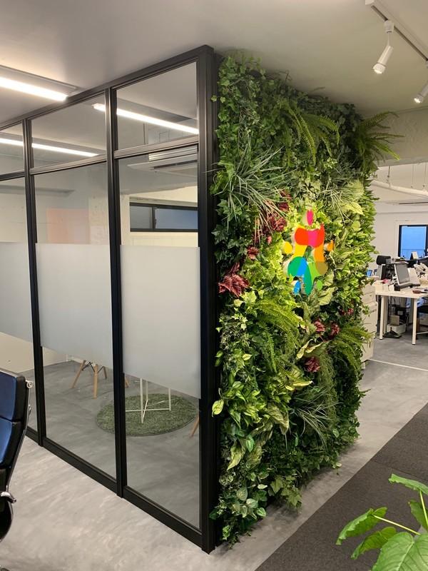 日本海経済交流事業協同組合オフィスの壁面緑化