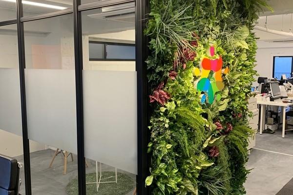日本海経済交流事業協同組合オフィスの壁面緑化のサムネイル